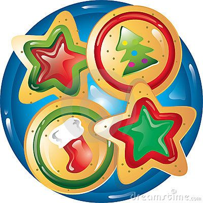 Plate Of Christmas Cookies Clipart.