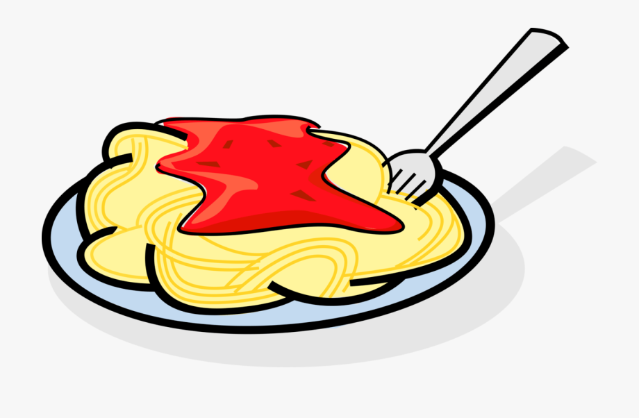Plate Of Spaghetti Clipart.
