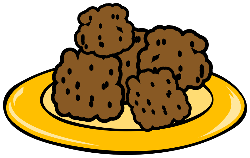 Plate Of Sugar Cookies Clipart.