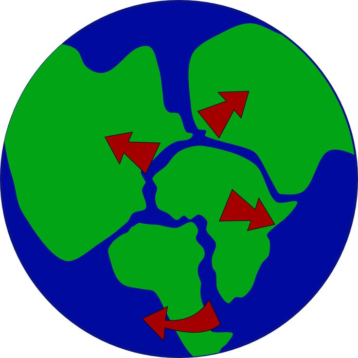 Tectonic Plates Clipart.