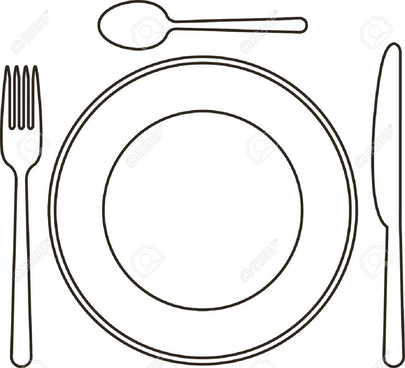 Plate Setting Clipart.