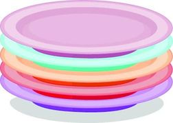 Similiar Clip Art Stack Of Plates Keywords.