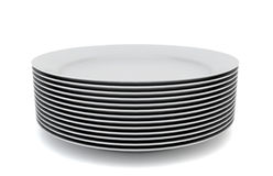 Stack Plates Stock Illustrations.