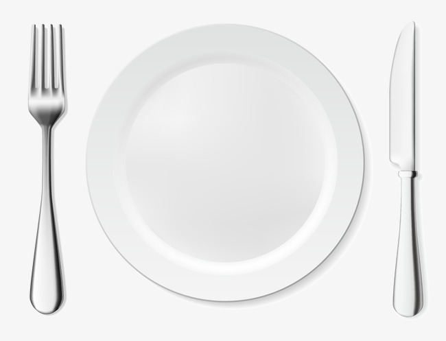 Dish Knife And Fork Vector, Vector, Plate, Knife PNG and.