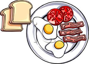 a plate of food clipart #18