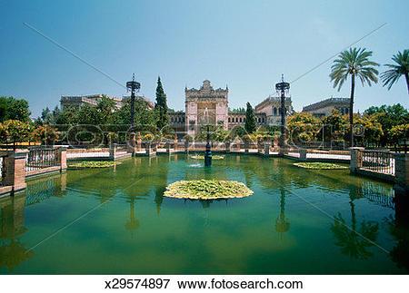 Picture of Plateresque Pavillion on Plaza de America, Seville.