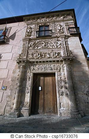 Picture of Plateresque doorway, Granada, Spain.