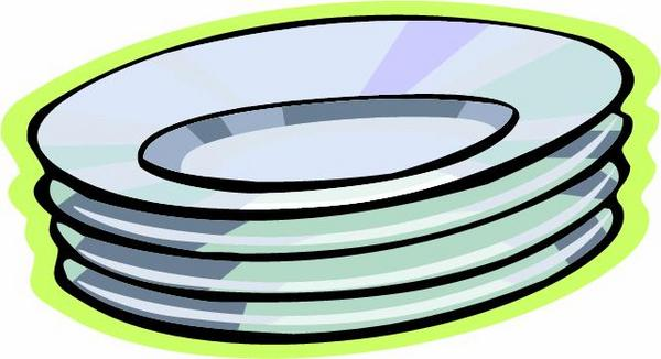 Plates And Cups Clipart.