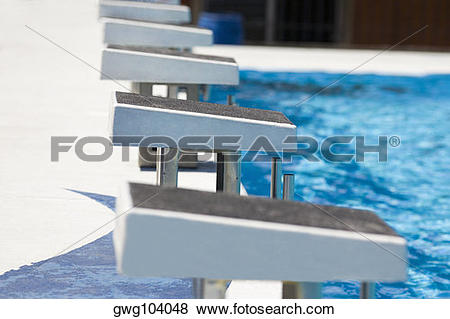 Pictures of Diving platform at a swimming pool gwg104048.