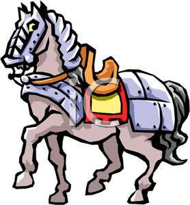 Image: A Knight's Horse In Metal Plating.