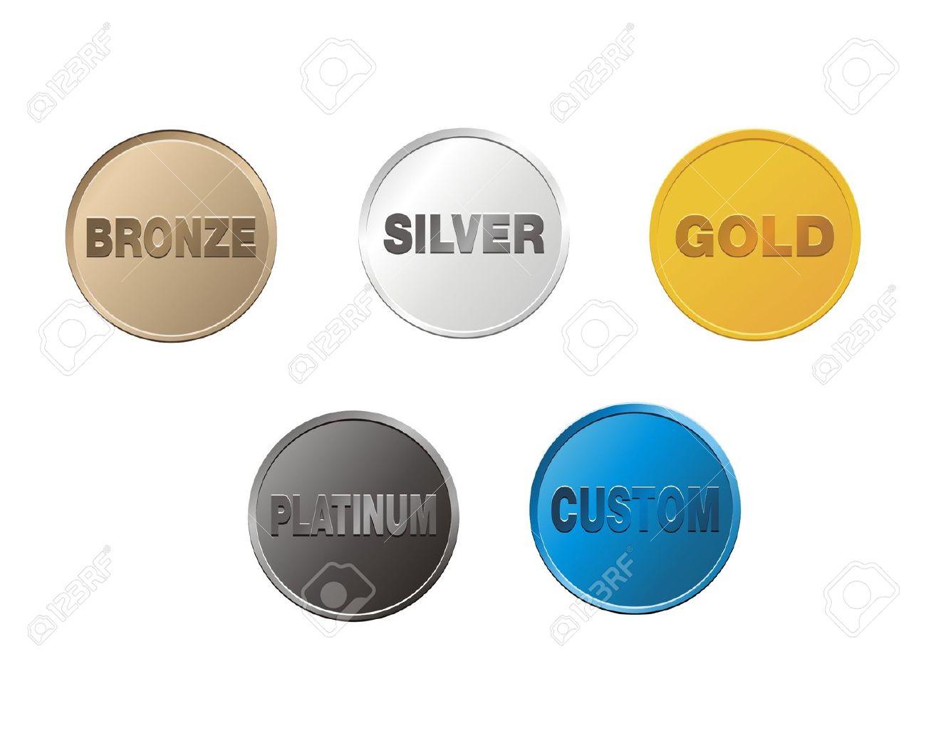 Platinum color clipart.