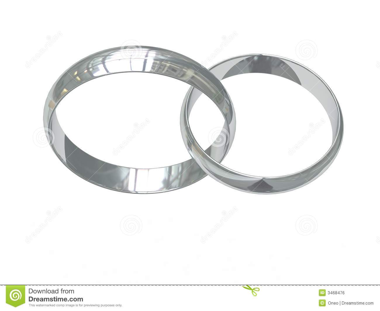 Platinum wedding ring clipart.
