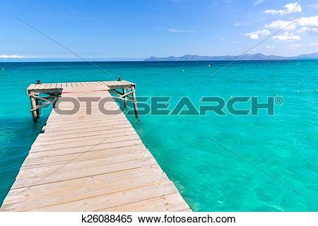 Stock Image of Majorca Platja de Muro beach Alcudia bay Mallorca.