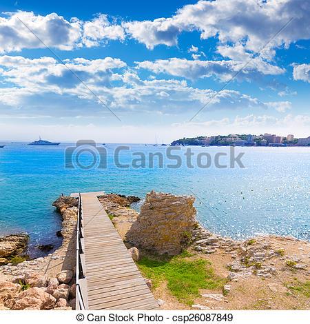 Stock Photo of Majorca Platja Palmanova Punta Marroig in Calvia.