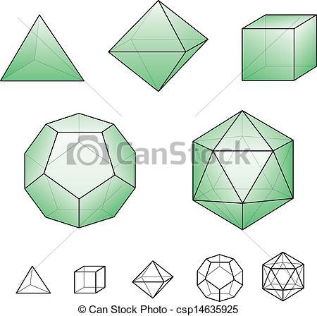 Platonic solids clipart - Clipground Platonic Solids Art