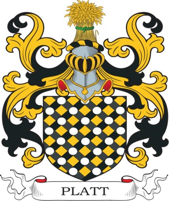 Platt Coat of Arms Meanings and Family Crest Artwork : Search.