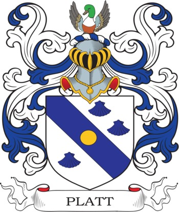 Platt Coat of Arms Meanings and Family Crest Artwork.