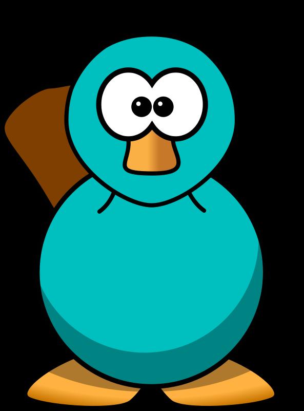 Free Clipart: Cartoon Platypus Teal.