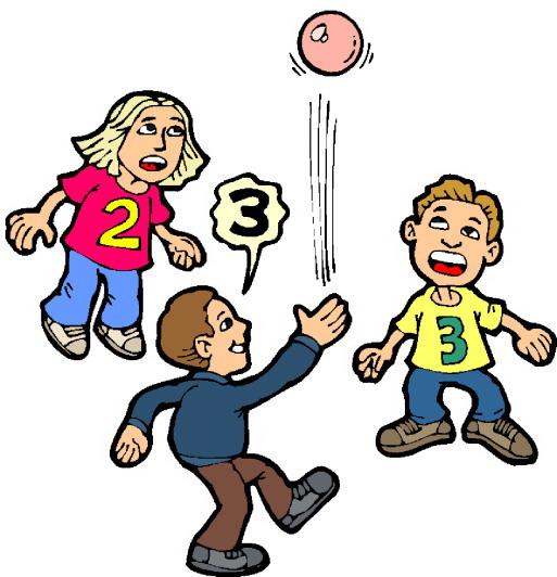 Children Play Ball Clipart.