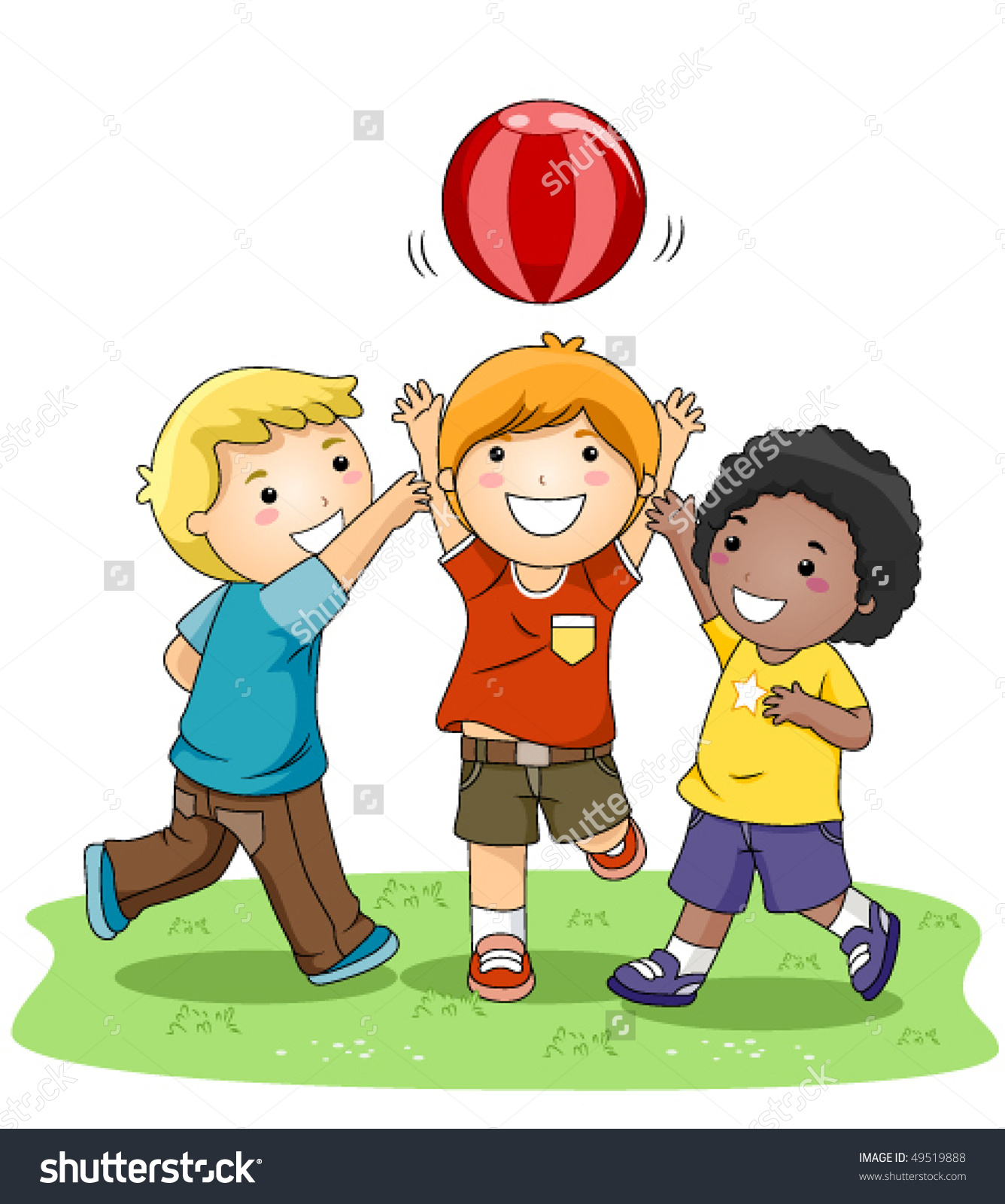 Kids Playing Ball Clipart.