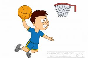 Dunking Boy Playing Basketball » Clipart Station.