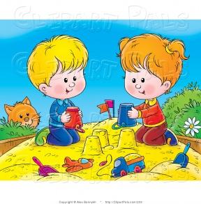 Sand Play Clipart.