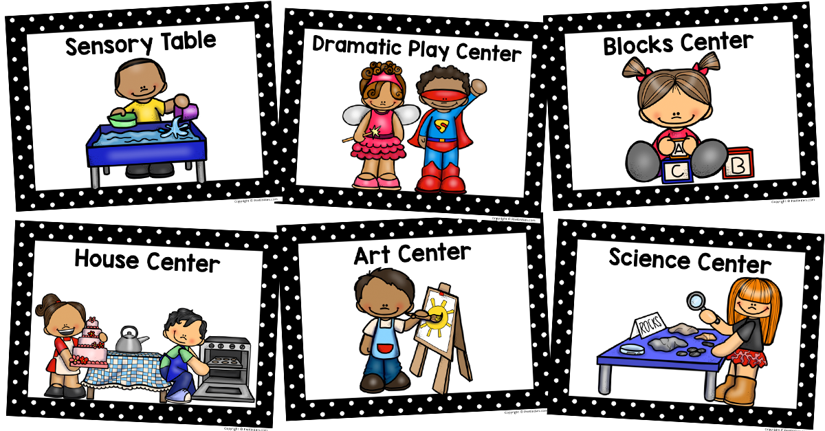 Play Centers Clipart.