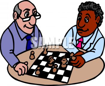 Two Friends Playing Chess.