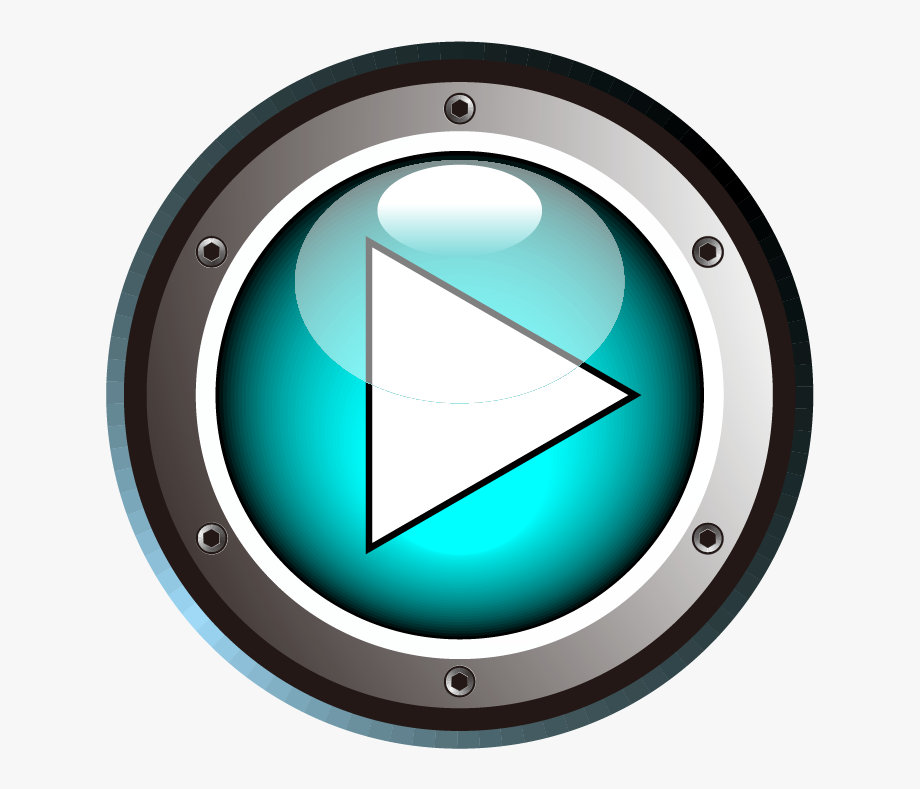 Blue Button Cartoon Play Png File Hd Clipart.