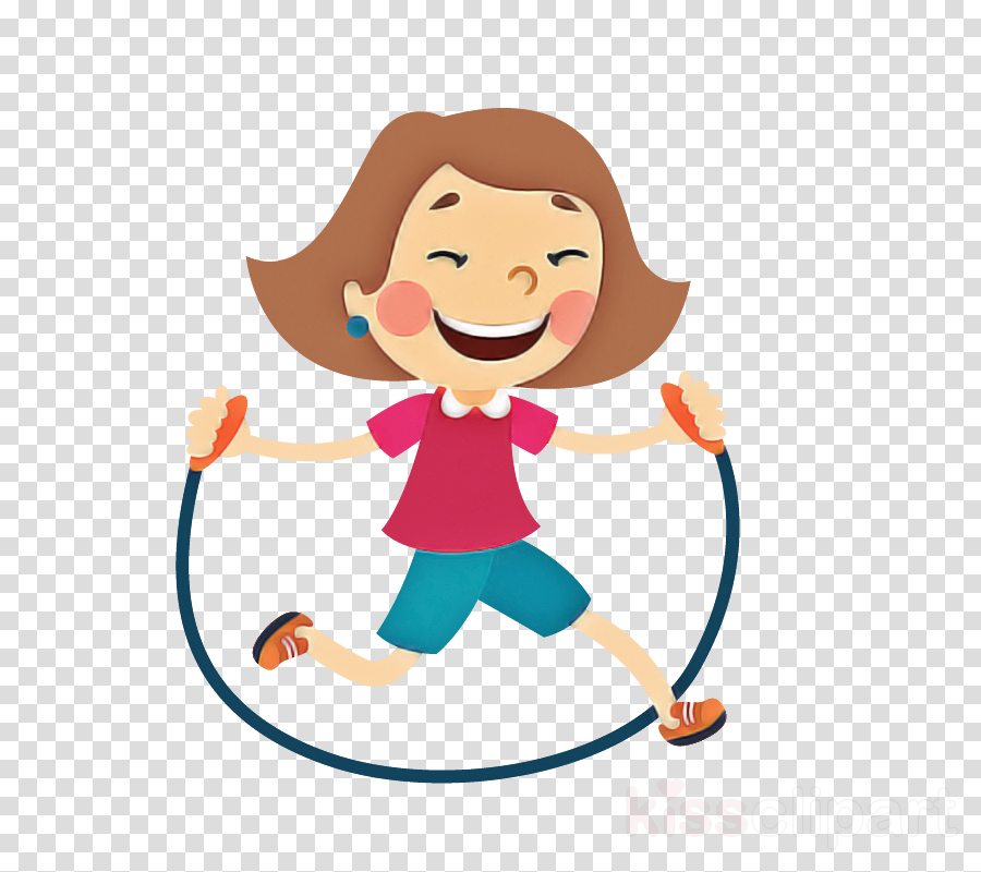 cartoon child smile gesture play clipart.