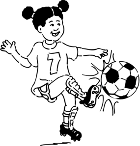 Girl Playing Football Outline Clip Art at Clker.com.
