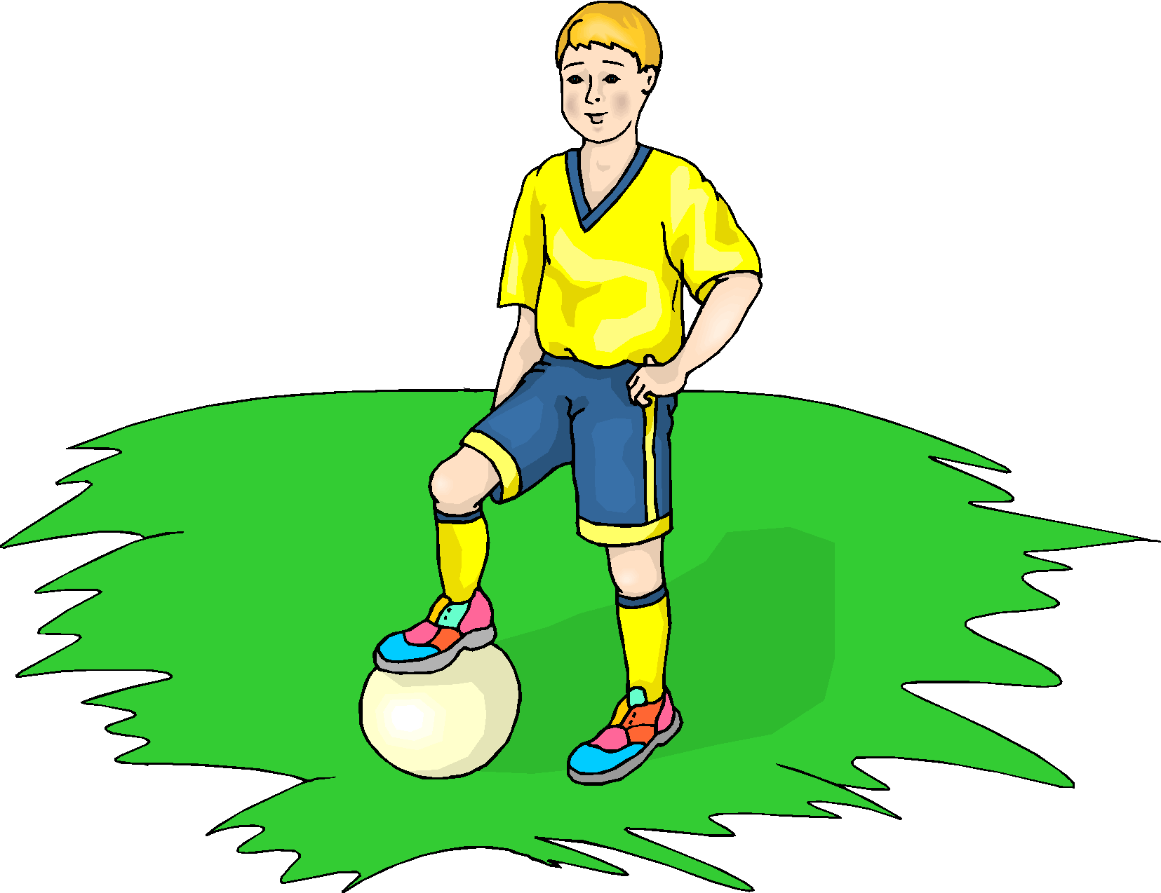 Best Playing Football Clipart #28772.