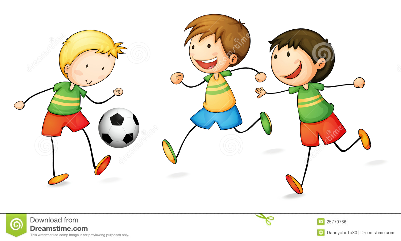 Playing football clip art.