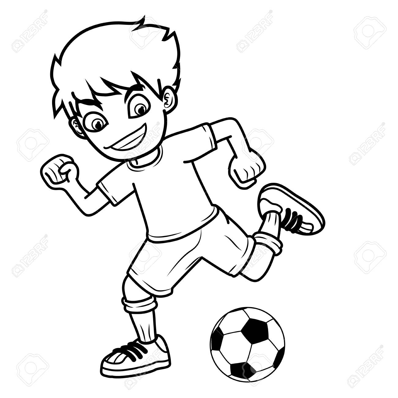 58 Football Black And White free clipart.