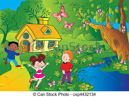 Playing garden Illustrations and Clip Art. 3,918 Playing garden.