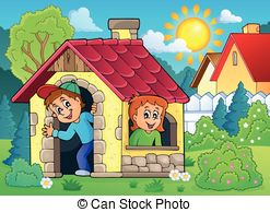 Play house clipart - Clipground