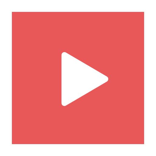Modern, play, red, stream, video, videos icon.