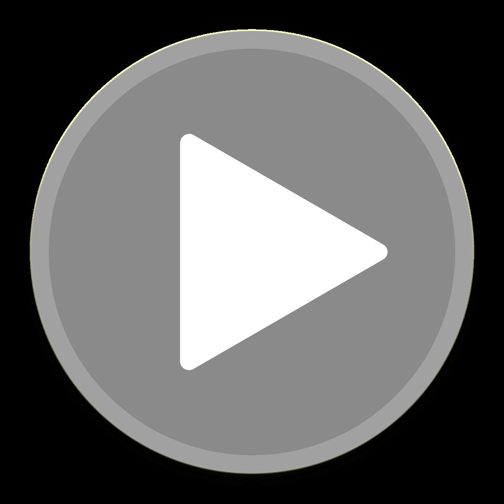 Play Grey Button transparent PNG.