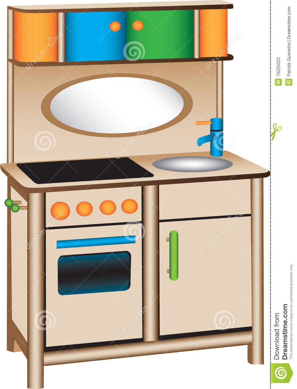 Toy Kitchen Clipart.