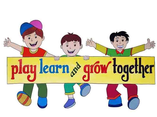 Play Learn Grow Clipart.