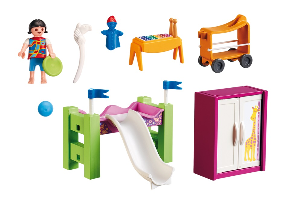 Playmobil Children's Room with Loft Bed and Slide.