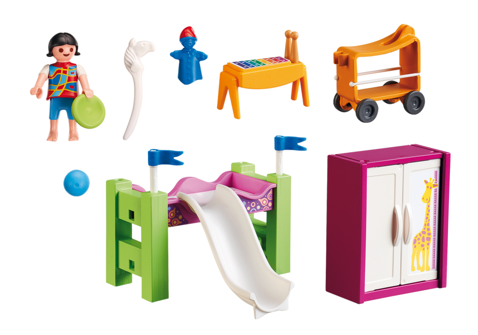 Children´s Room with Loft Bed and Slide.