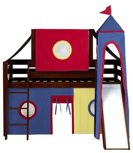 Jackpot Castle Low Loft Bed With Slide.