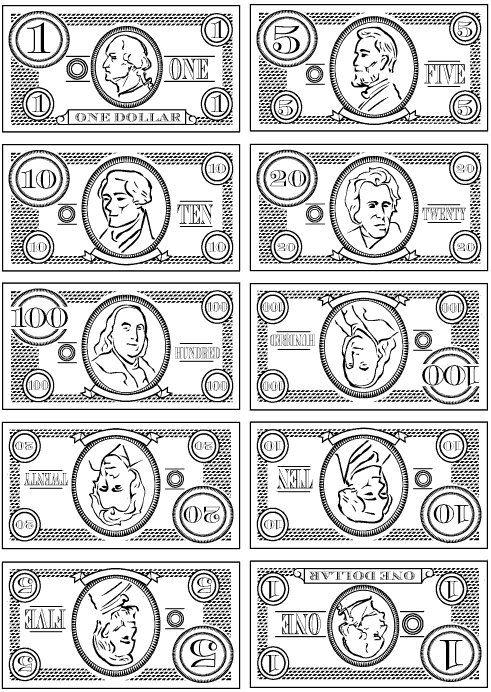 Printable Play Money.