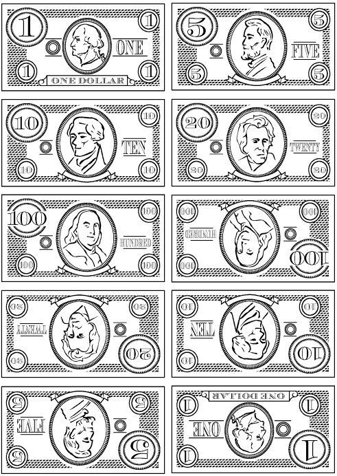 Play money clipart free.