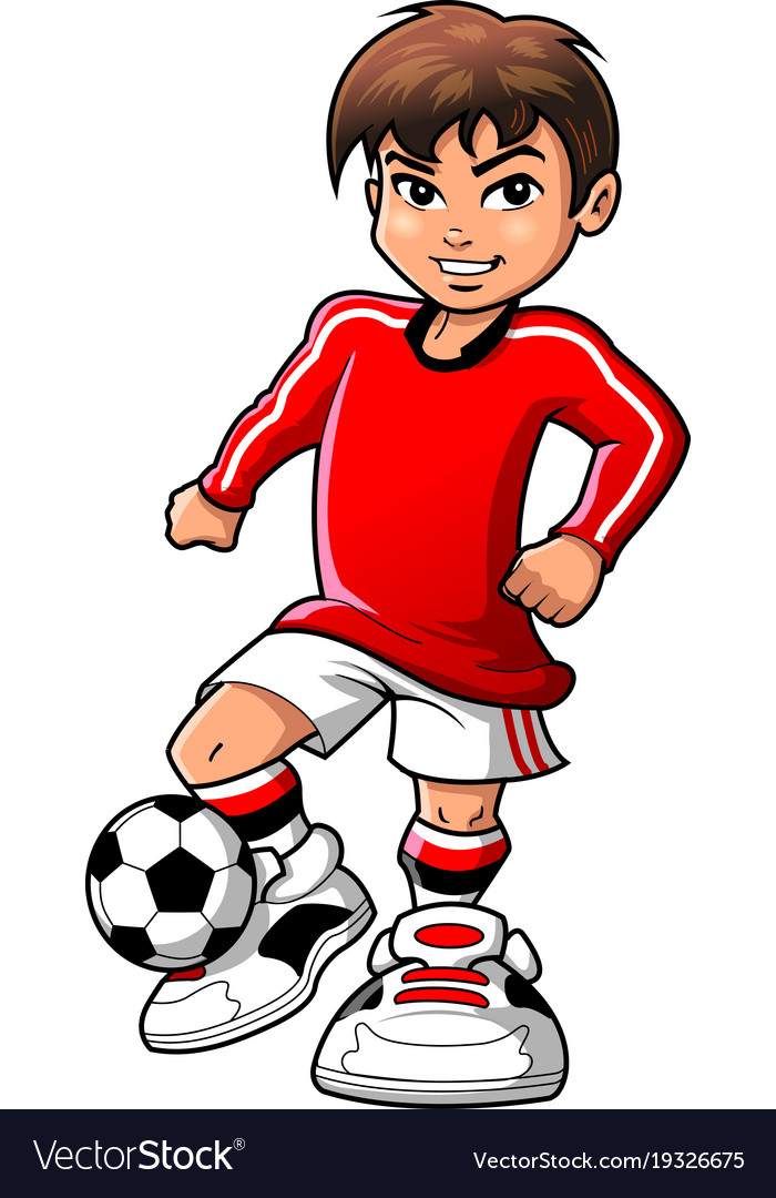 Soccer football player teen boy sports clipart.