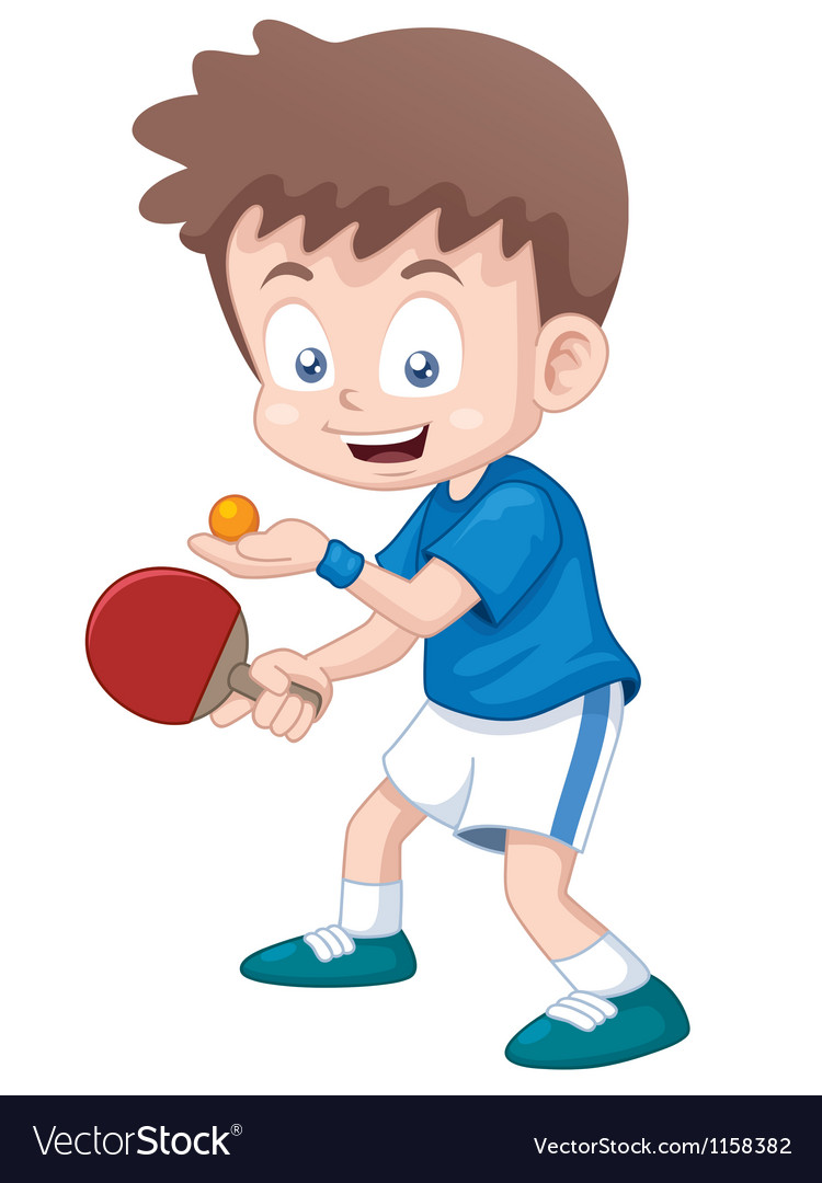 Table tennis player.
