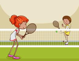 Tennis Clipart Free Vector Art.