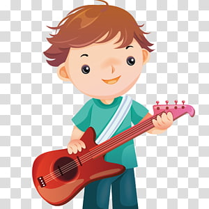 Play The Guitar transparent background PNG cliparts free.