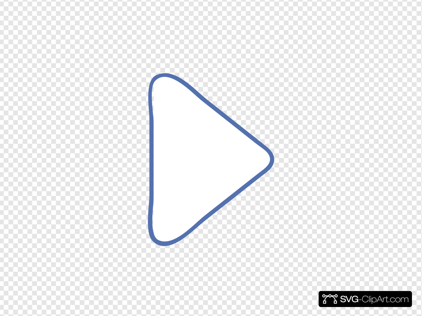 Play Triangle Clip art, Icon and SVG.
